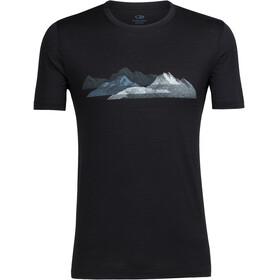 Icebreaker Tech Lite Misty Peaks - Camiseta manga corta Hombre - negro